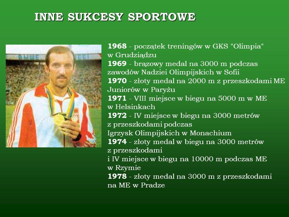 INNE SUKCESY SPORTOWE 1968 - początek treningów w GKS Olimpia