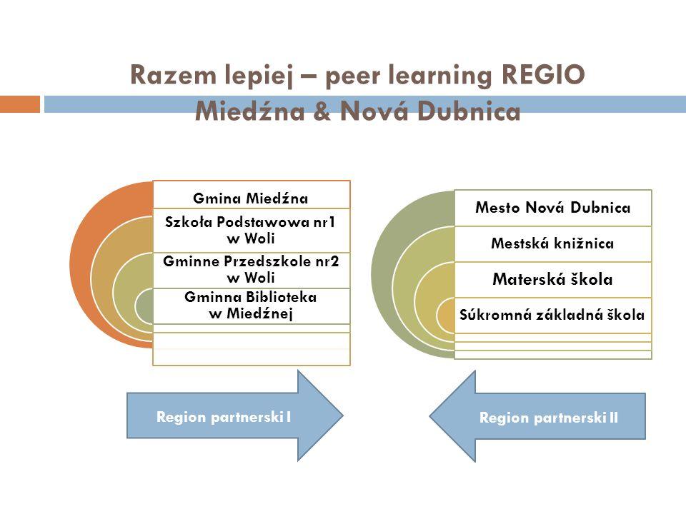 Razem lepiej – peer learning REGIO Miedźna & Nová Dubnica