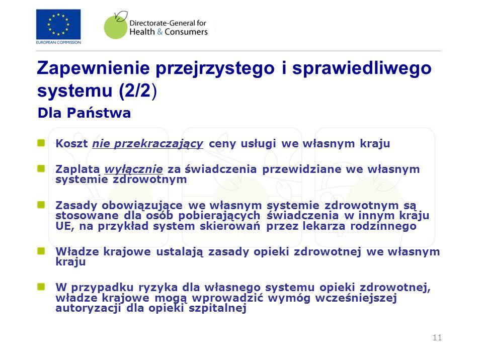 Zapewnienie przejrzystego i sprawiedliwego systemu (2/2)