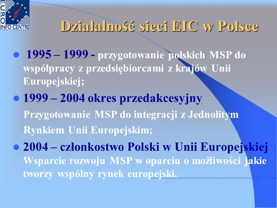 Działalność sieci EIC w Polsce