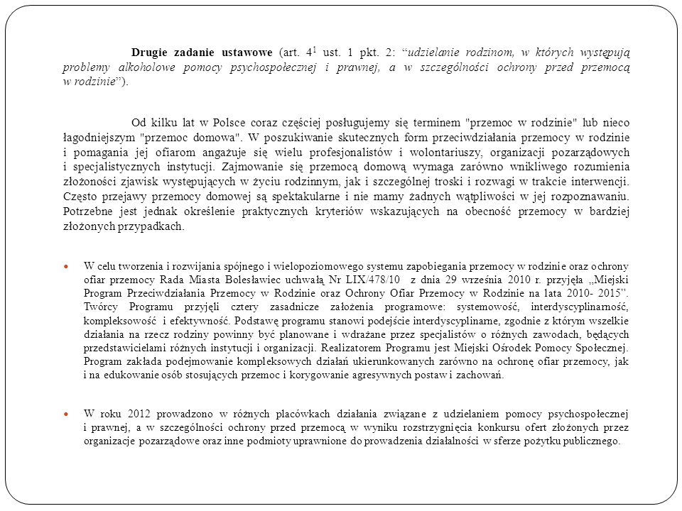 Drugie zadanie ustawowe (art. 41 ust. 1 pkt