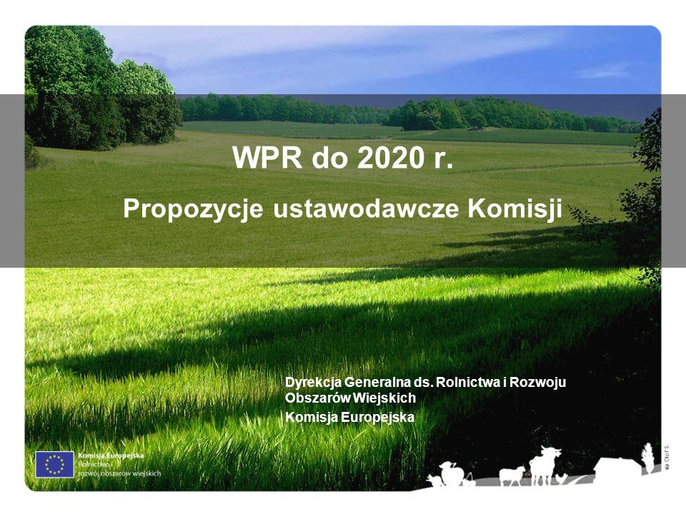 WPR do 2020 r. Propozycje ustawodawcze Komisji