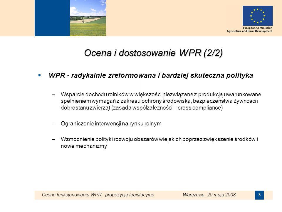 Ocena i dostosowanie WPR (2/2)