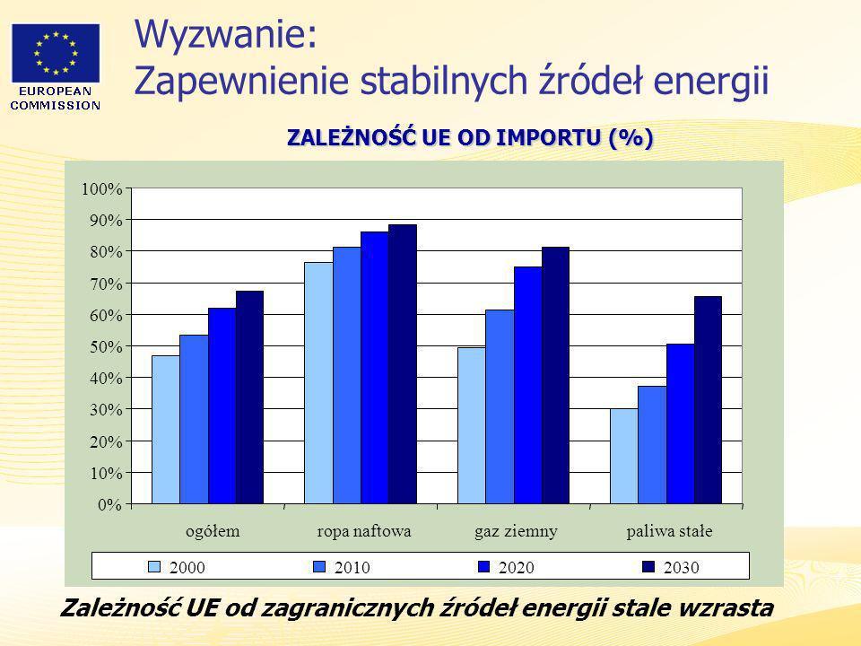 Wyzwanie: Zapewnienie stabilnych źródeł energii
