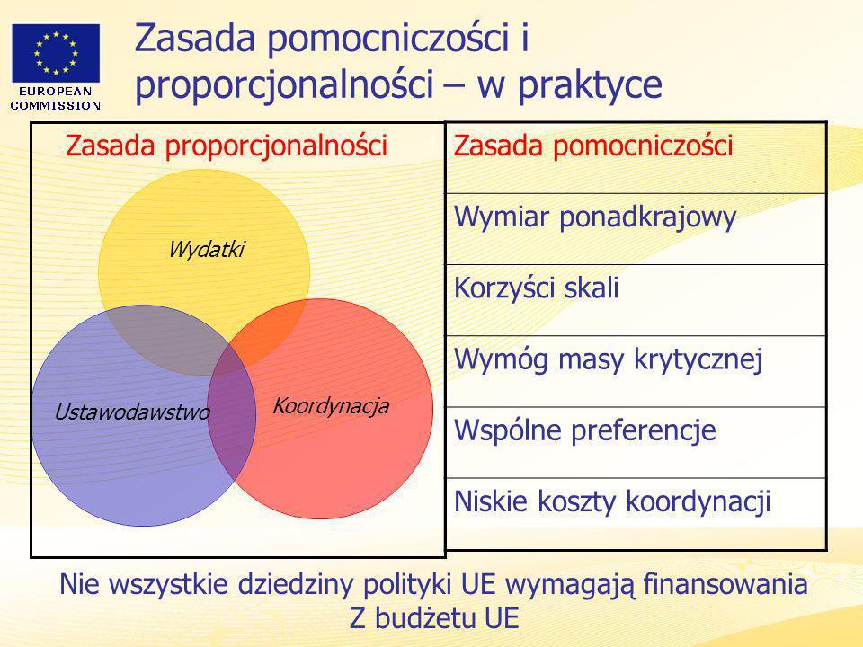 Zasada pomocniczości i proporcjonalności – w praktyce