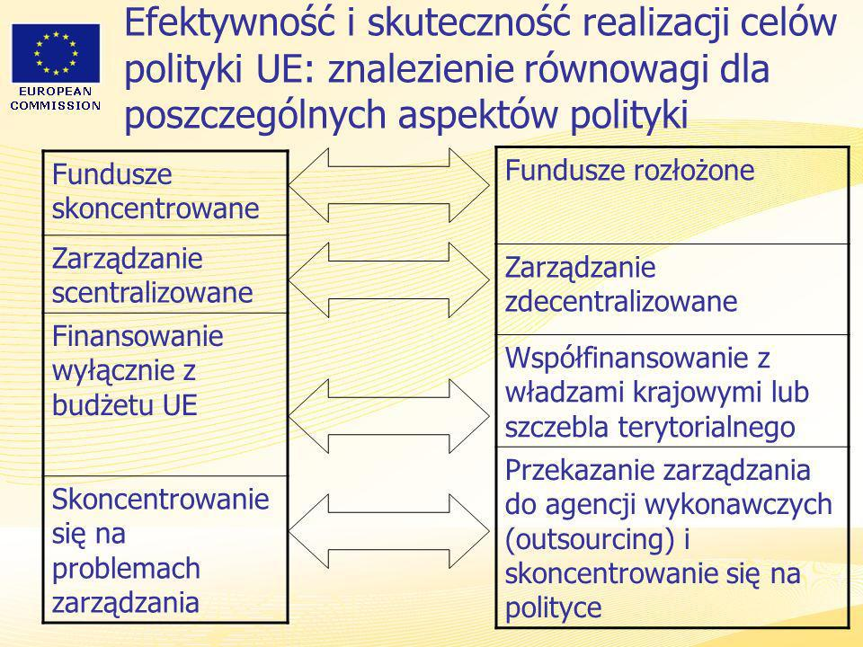 Efektywność i skuteczność realizacji celów polityki UE: znalezienie równowagi dla poszczególnych aspektów polityki