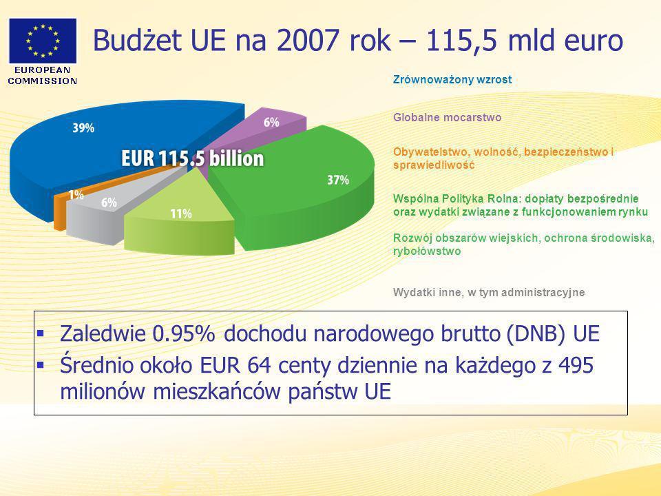 Budżet UE na 2007 rok – 115,5 mld euro