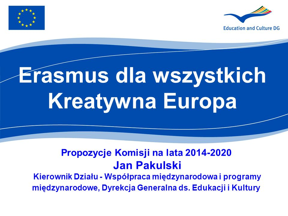 Erasmus dla wszystkich Kreatywna Europa