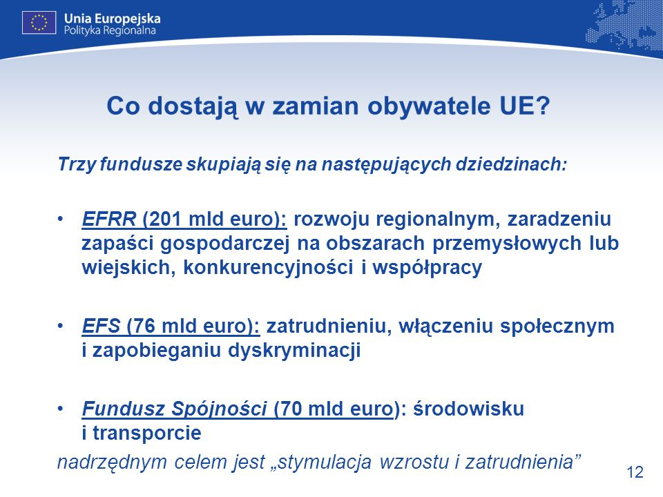 Co dostają w zamian obywatele UE