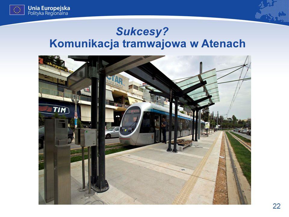 Sukcesy Komunikacja tramwajowa w Atenach