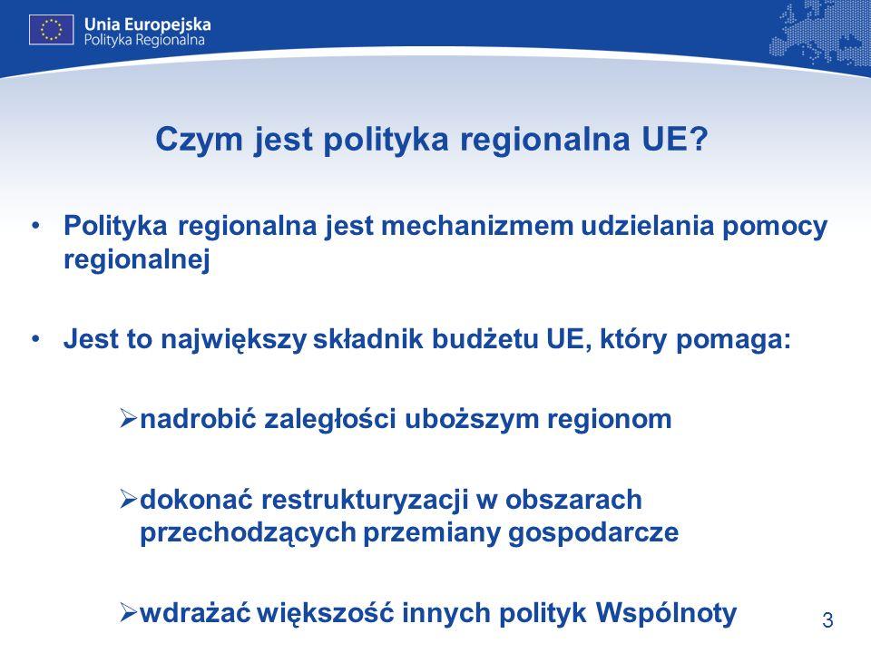Czym jest polityka regionalna UE