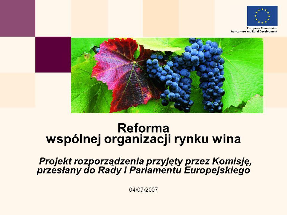 Reforma wspólnej organizacji rynku wina Projekt rozporządzenia przyjęty przez Komisję, przesłany do Rady i Parlamentu Europejskiego