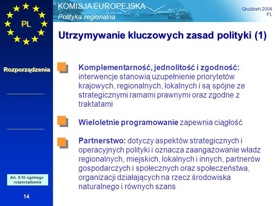 Utrzymywanie kluczowych zasad polityki (1)