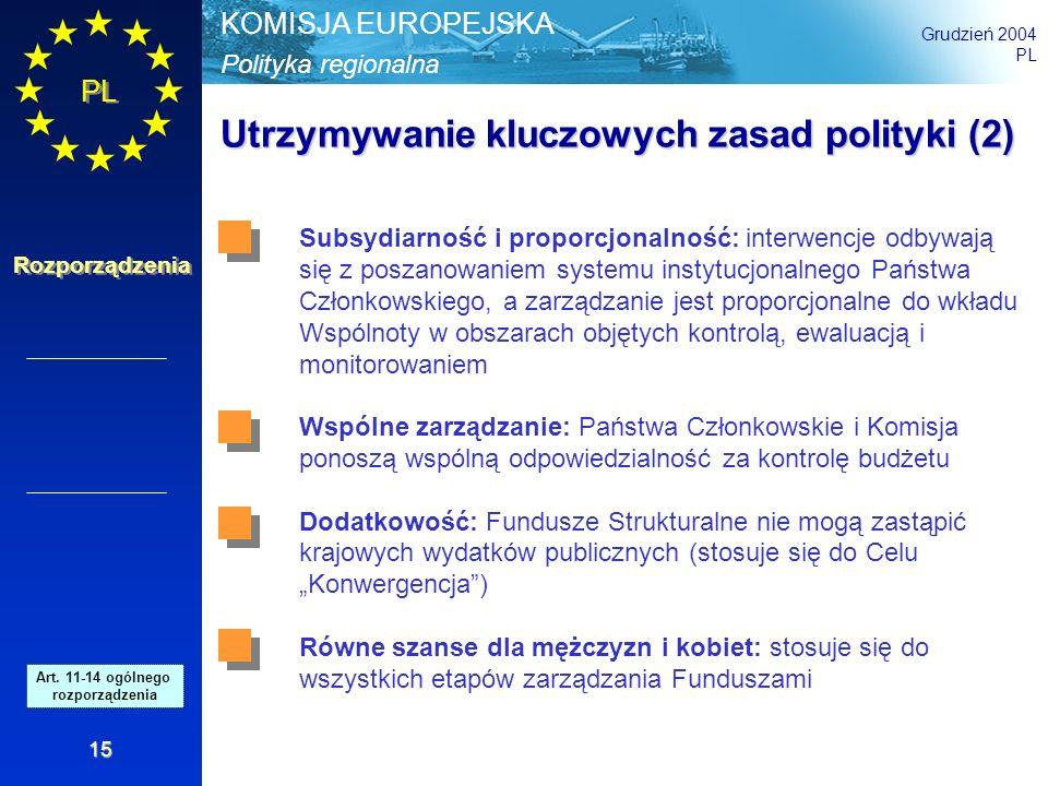 Utrzymywanie kluczowych zasad polityki (2)