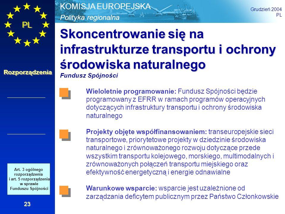 Skoncentrowanie się na infrastrukturze transportu i ochrony środowiska naturalnego