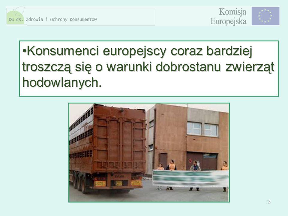 Konsumenci europejscy coraz bardziej troszczą się o warunki dobrostanu zwierząt hodowlanych.