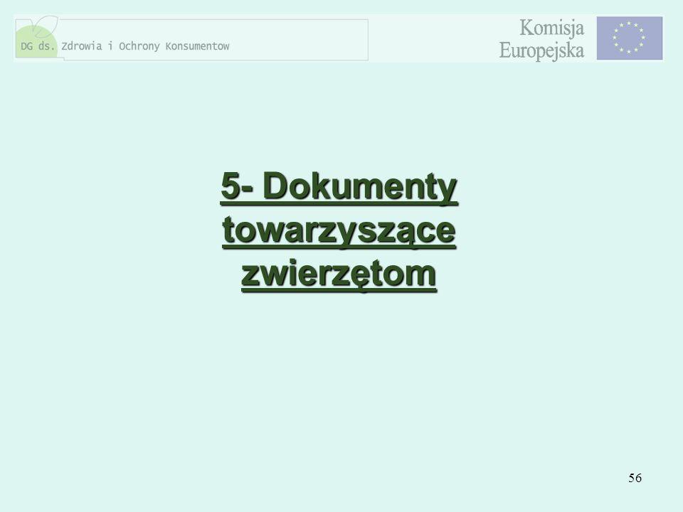 5- Dokumenty towarzyszące zwierzętom