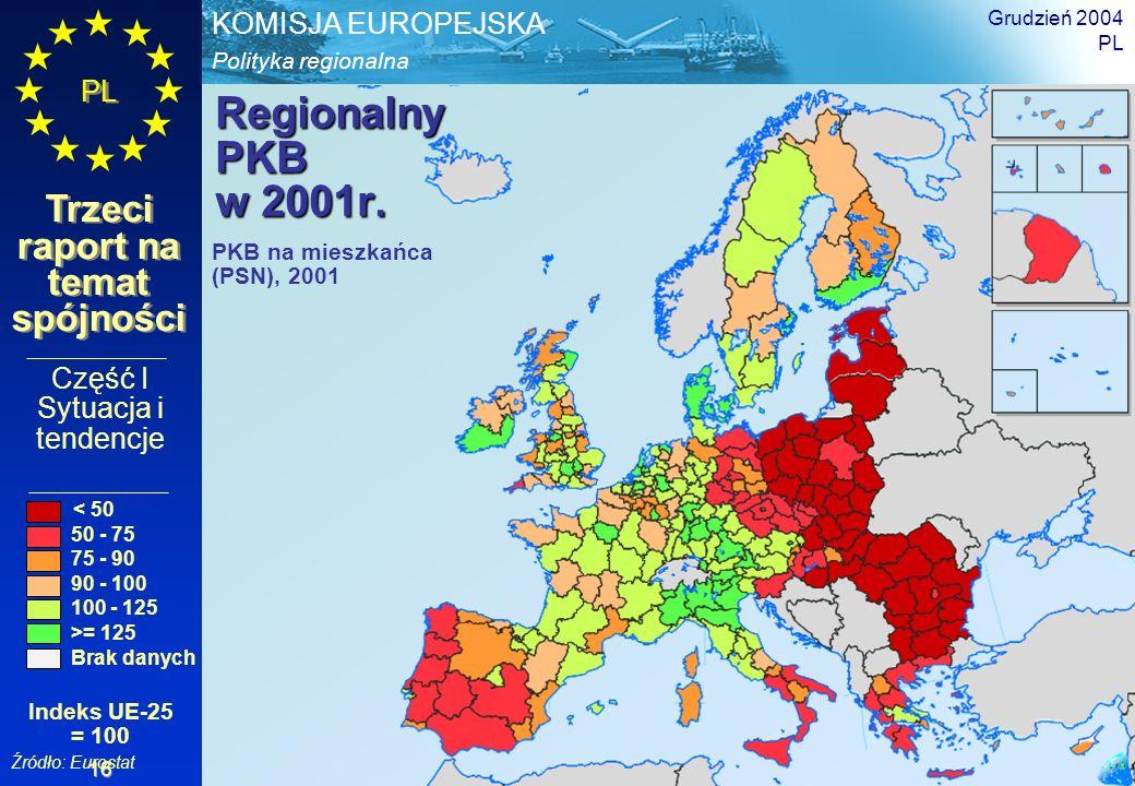 Regionalny PKB w 2001r. Część I Sytuacja i tendencje PKB na mieszkańca