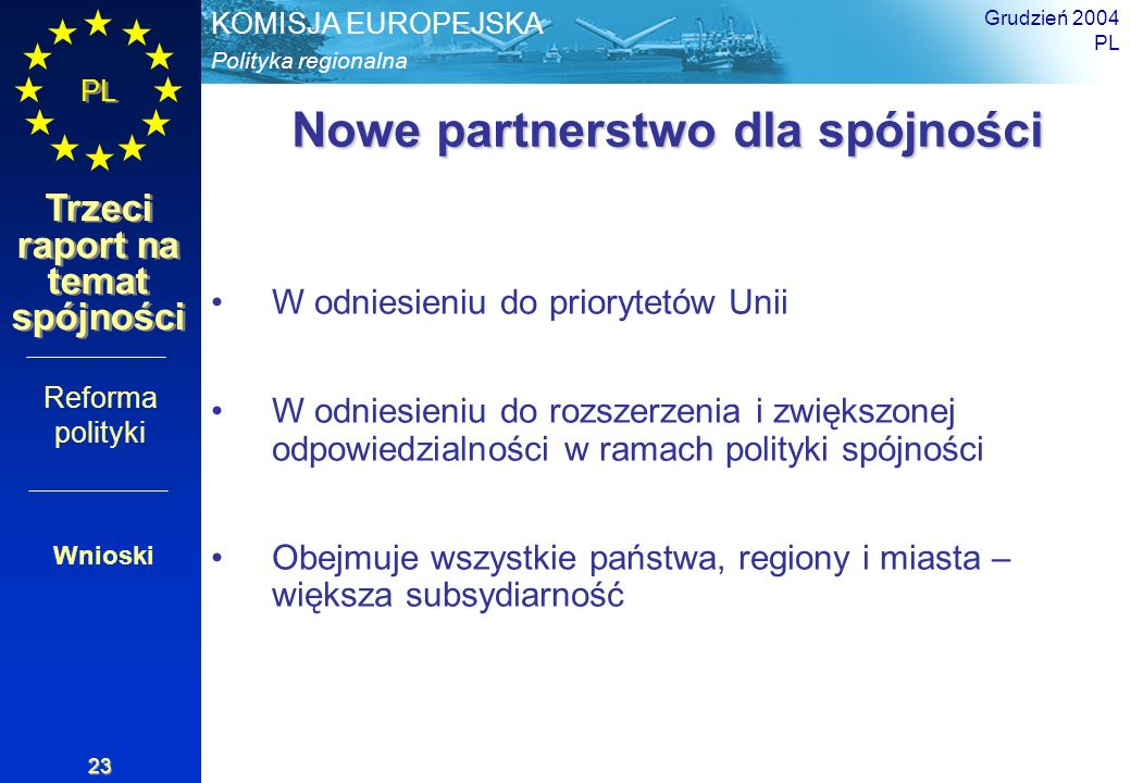 Nowe partnerstwo dla spójności