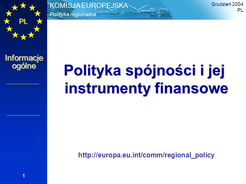 Polityka spójności i jej instrumenty finansowe