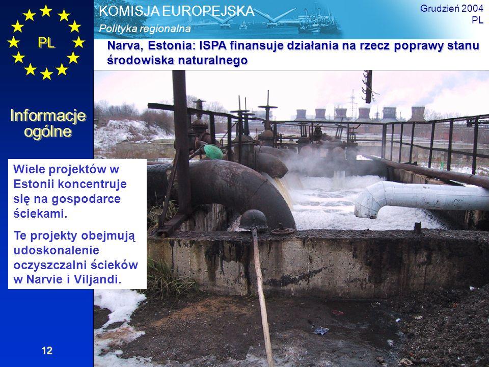 Narva, Estonia: ISPA finansuje działania na rzecz poprawy stanu