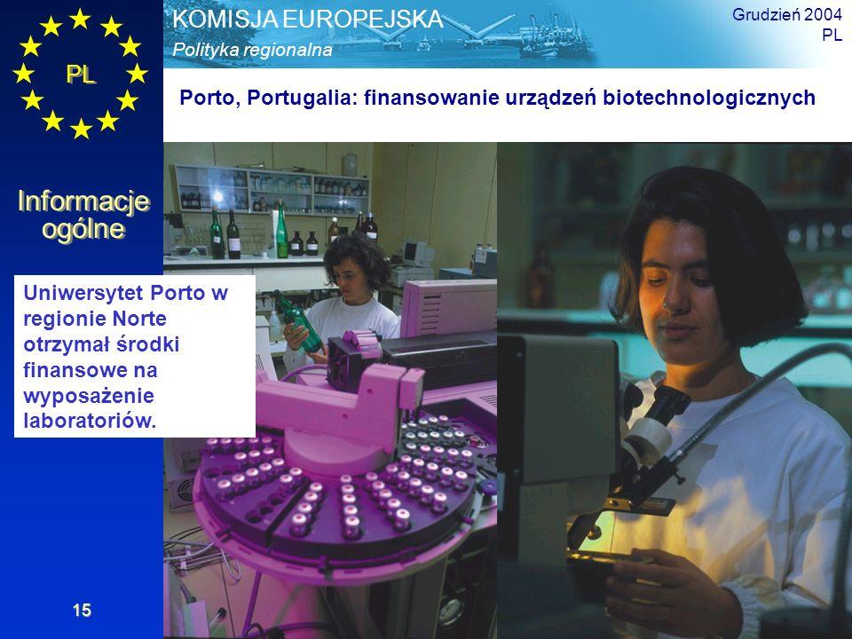 Porto, Portugalia: finansowanie urządzeń biotechnologicznych