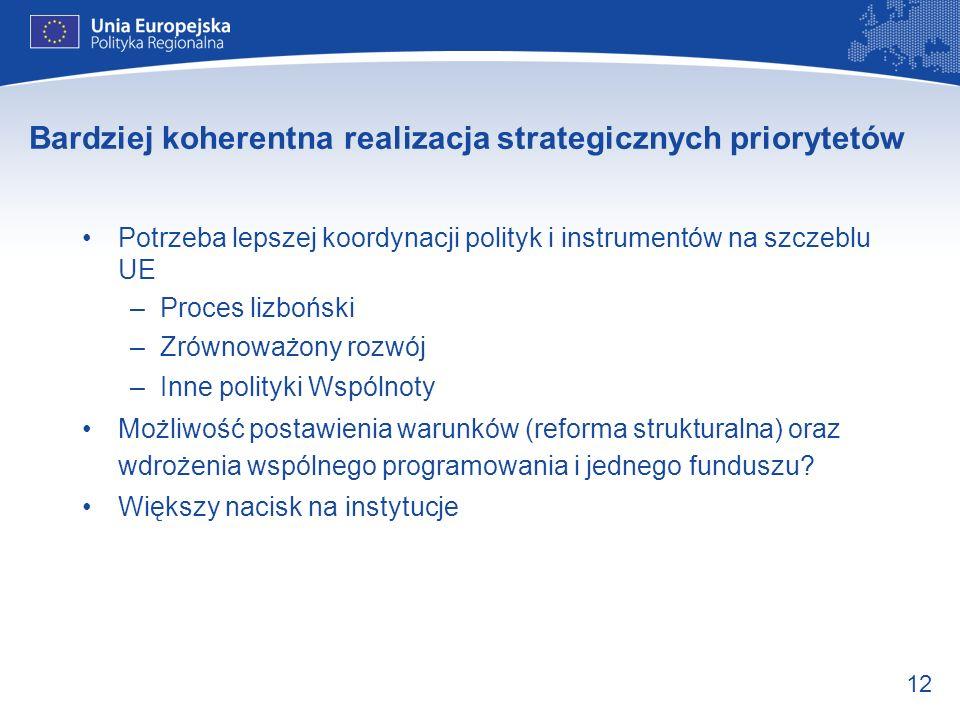 Bardziej koherentna realizacja strategicznych priorytetów