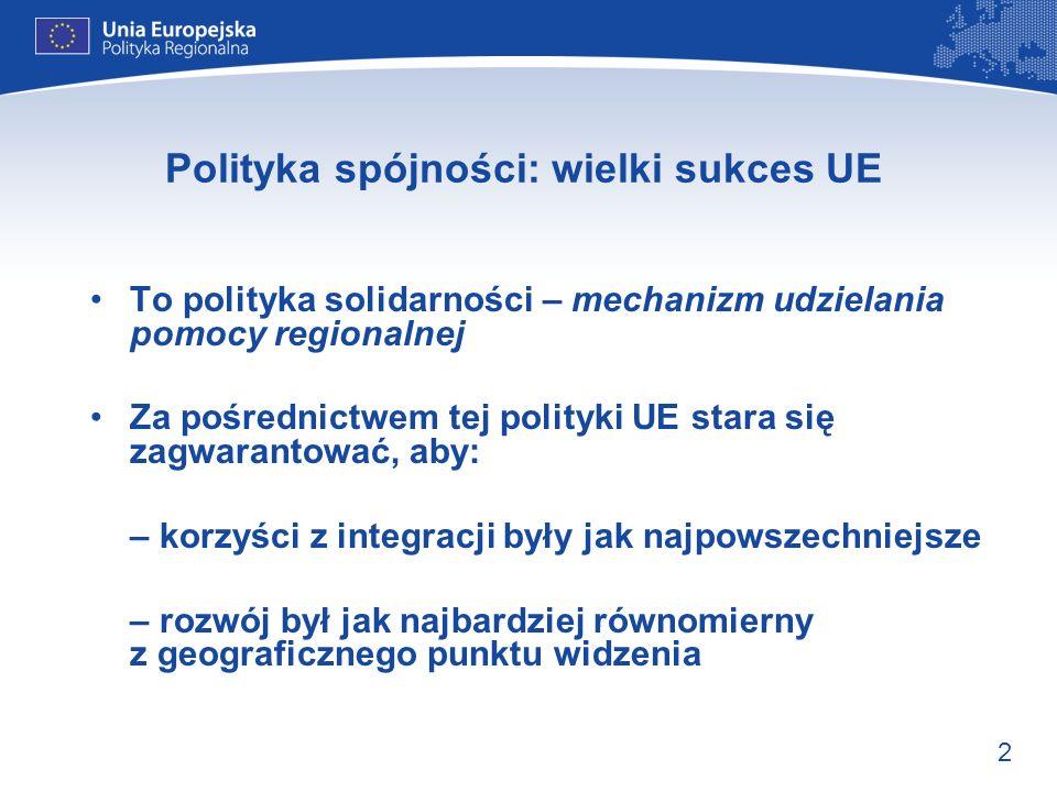 Polityka spójności: wielki sukces UE