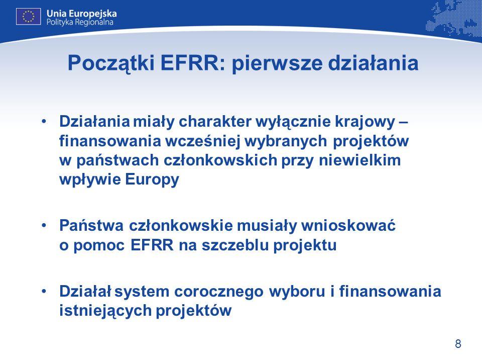 Początki EFRR: pierwsze działania