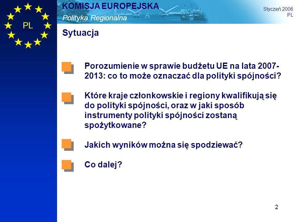 Sytuacja Porozumienie w sprawie budżetu UE na lata 2007-2013: co to może oznaczać dla polityki spójności