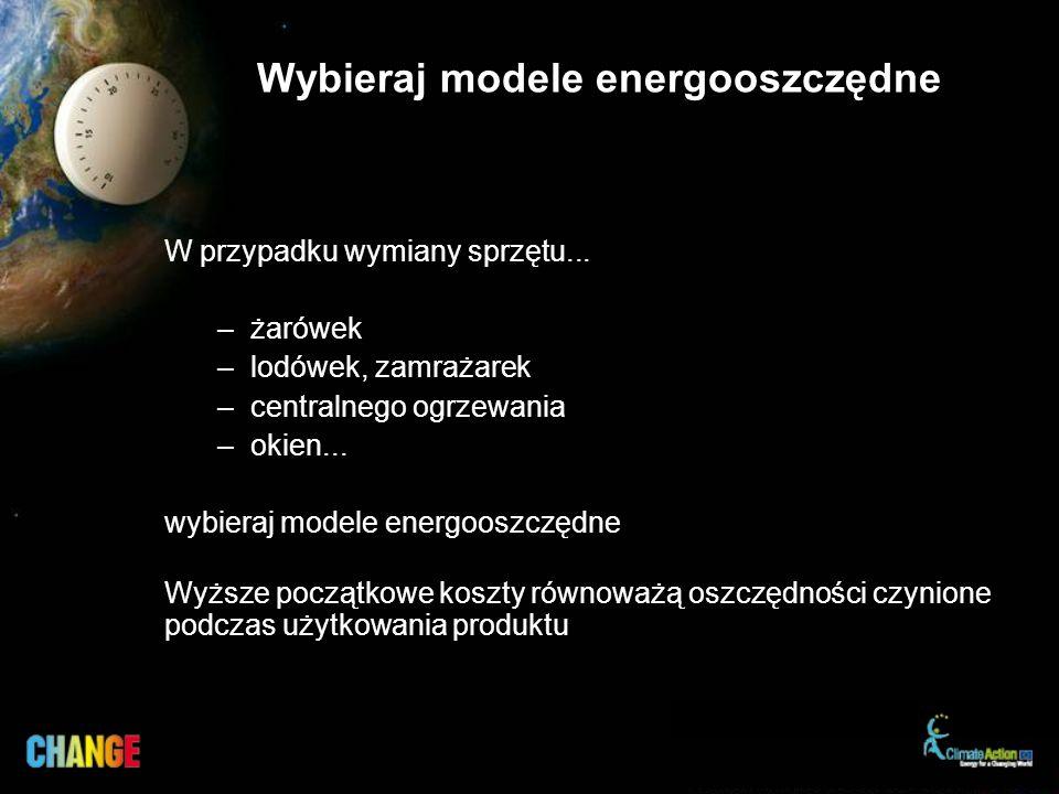 Wybieraj modele energooszczędne