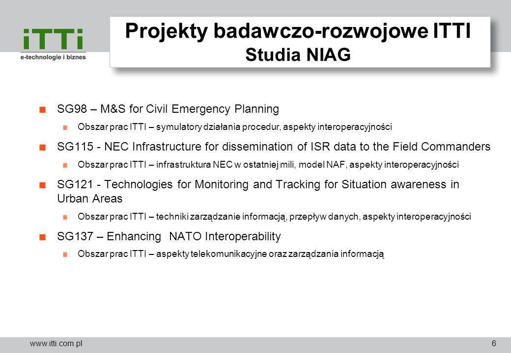 Projekty badawczo-rozwojowe ITTI Studia NIAG