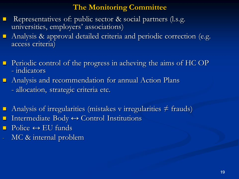 The Monitoring Committee