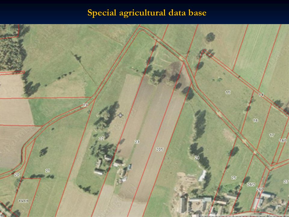 Special agricultural data base