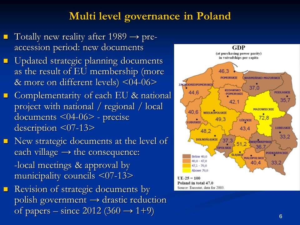 Multi level governance in Poland