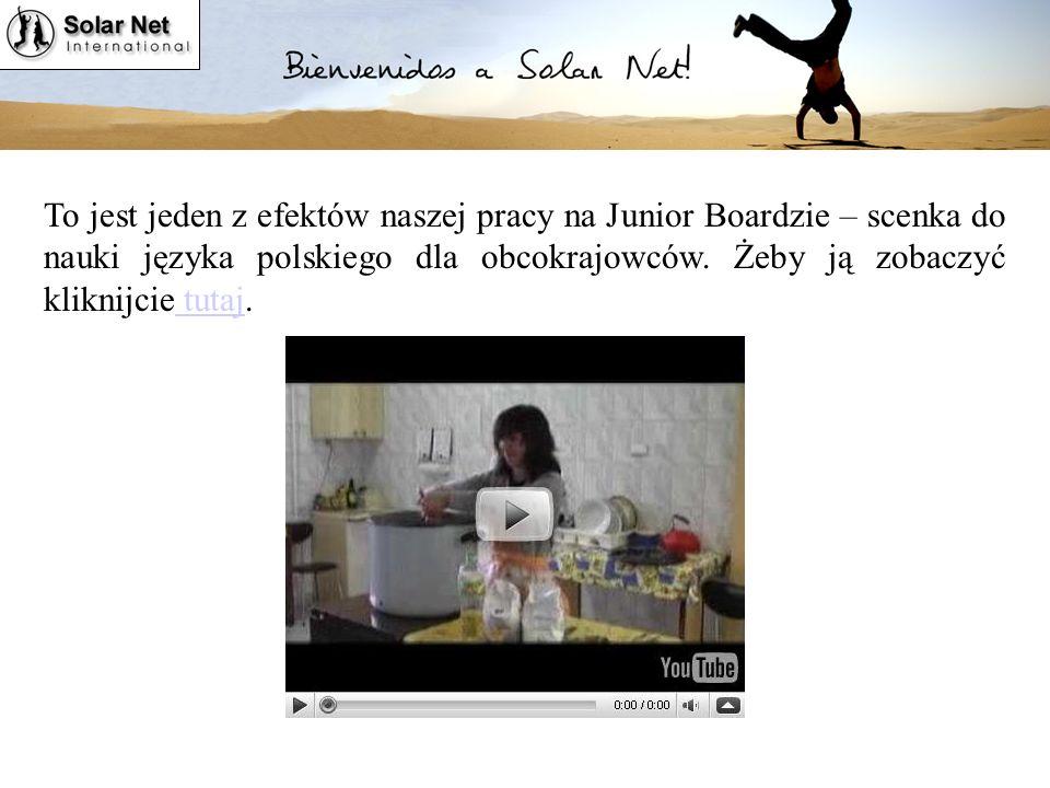 To jest jeden z efektów naszej pracy na Junior Boardzie – scenka do nauki języka polskiego dla obcokrajowców.