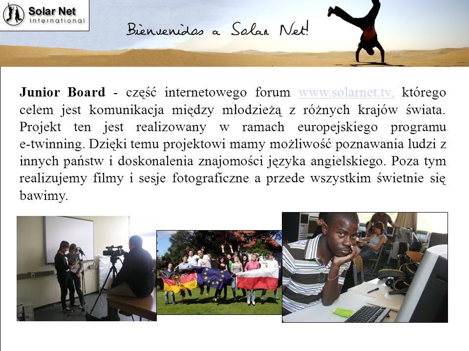 Junior Board - część internetowego forum www. solarnet