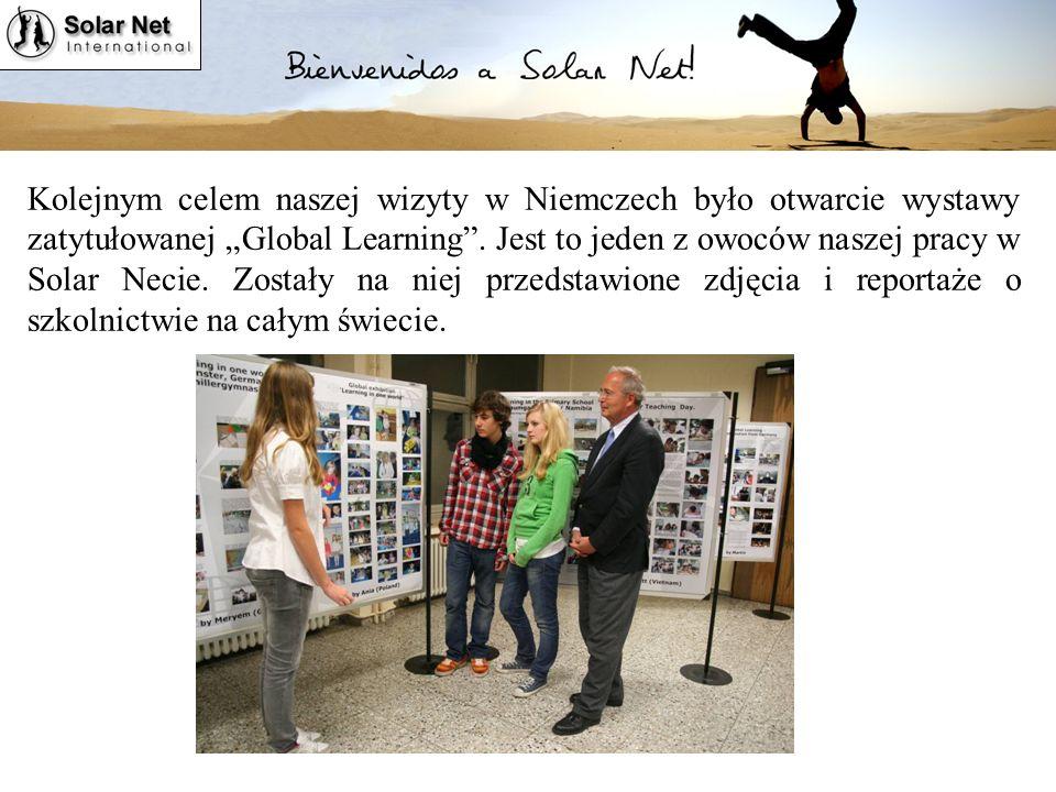 """Kolejnym celem naszej wizyty w Niemczech było otwarcie wystawy zatytułowanej """"Global Learning ."""