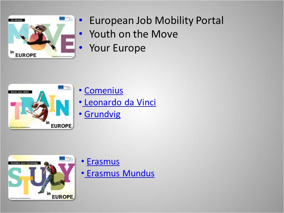 European Job Mobility Portal Youth on the Move Your Europe