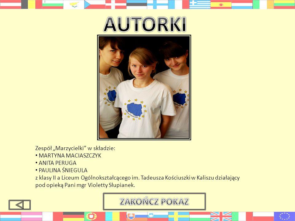 """AUTORKI ZAKOŃCZ POKAZ Zespół """"Marzycielki w składzie:"""