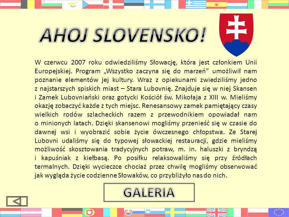 AHOJ SLOVENSKO! GALERIA