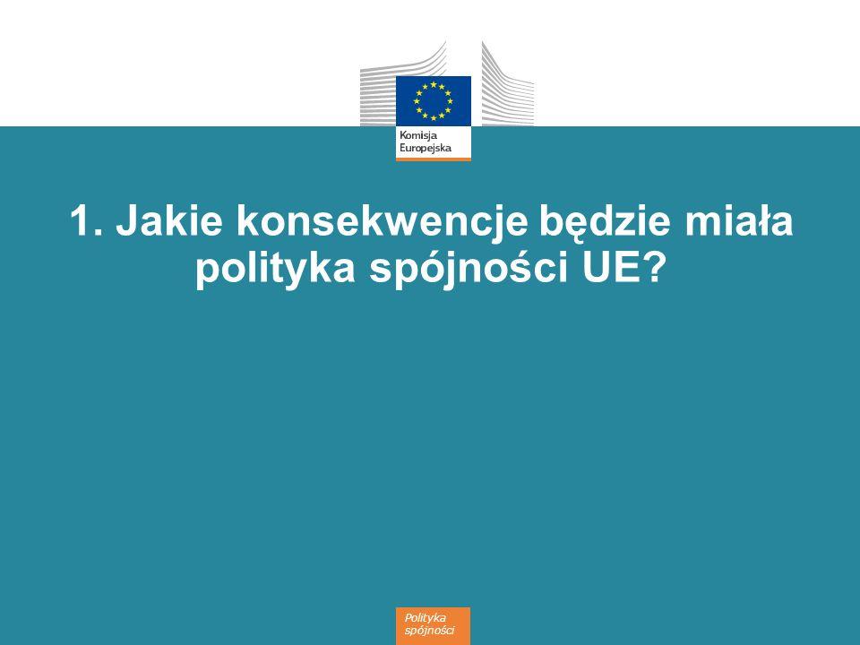 1. Jakie konsekwencje będzie miała polityka spójności UE