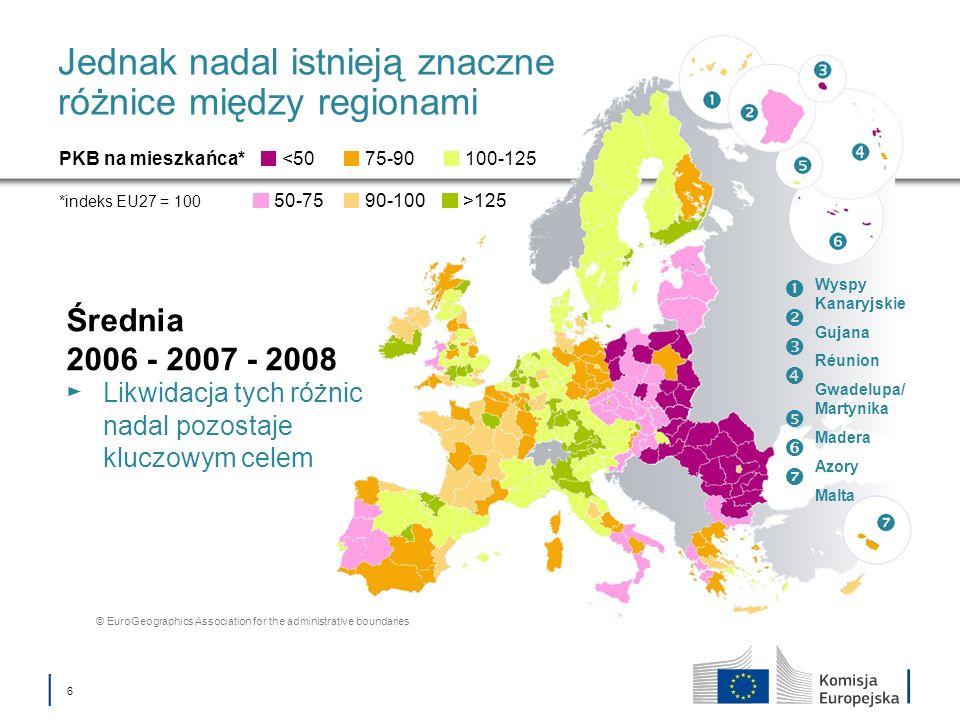 Jednak nadal istnieją znaczne różnice między regionami