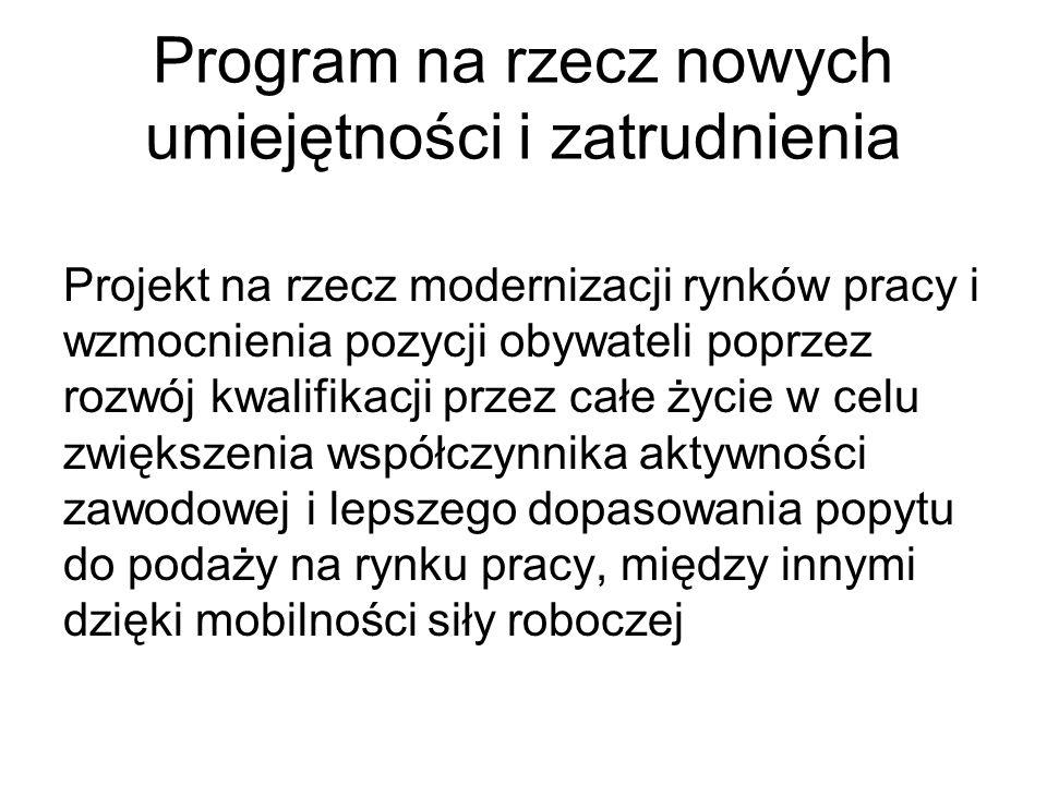 Program na rzecz nowych umiejętności i zatrudnienia