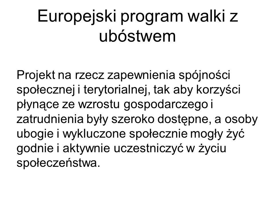 Europejski program walki z ubóstwem
