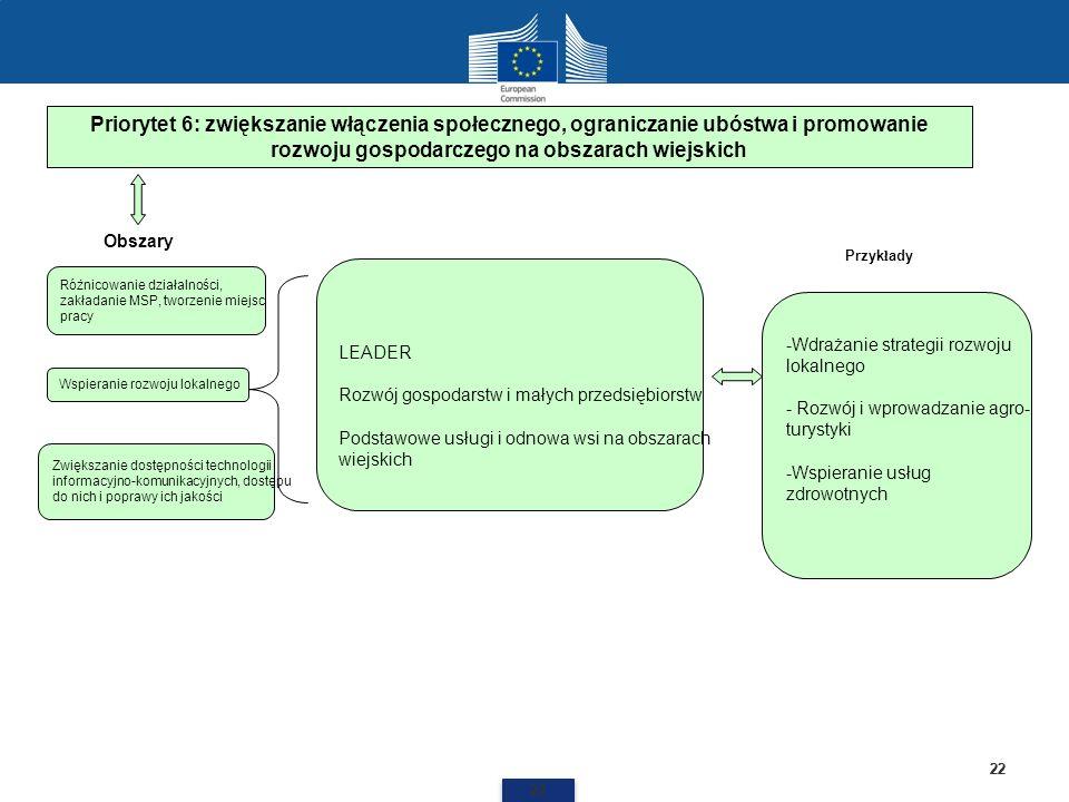 Priorytet 6: zwiększanie włączenia społecznego, ograniczanie ubóstwa i promowanie rozwoju gospodarczego na obszarach wiejskich