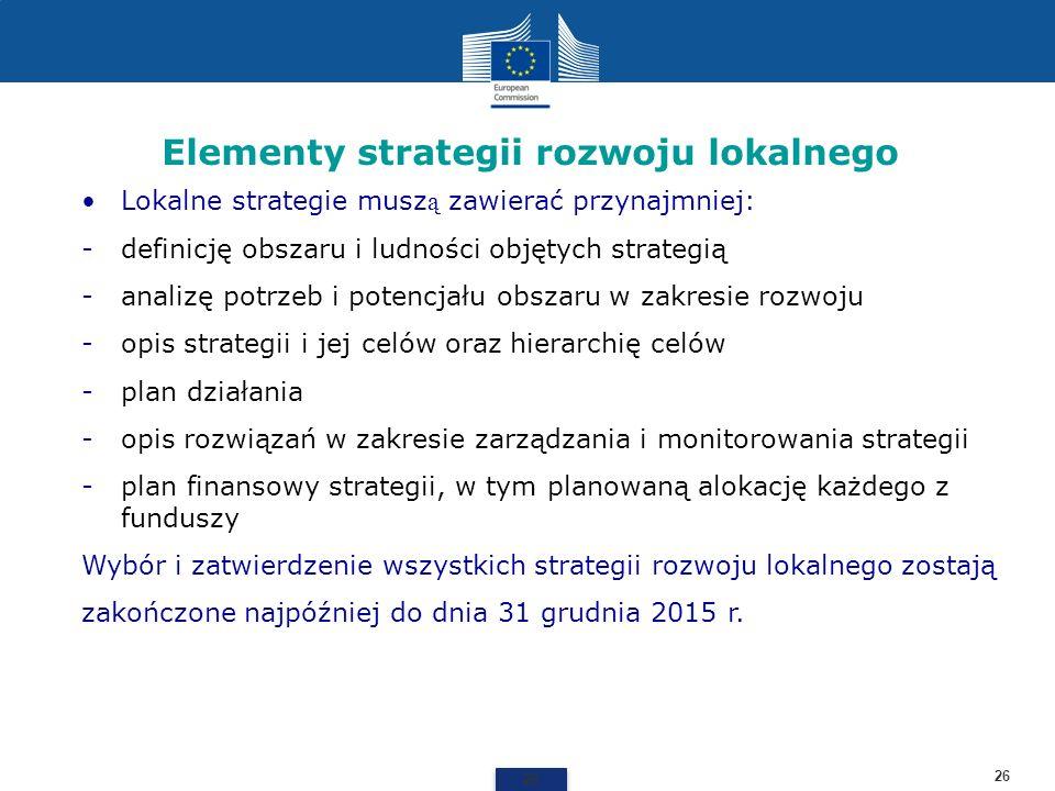 Elementy strategii rozwoju lokalnego