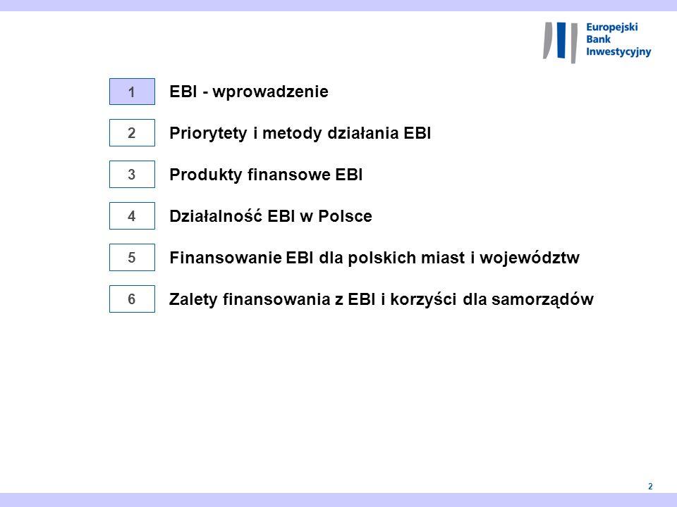 Priorytety i metody działania EBI