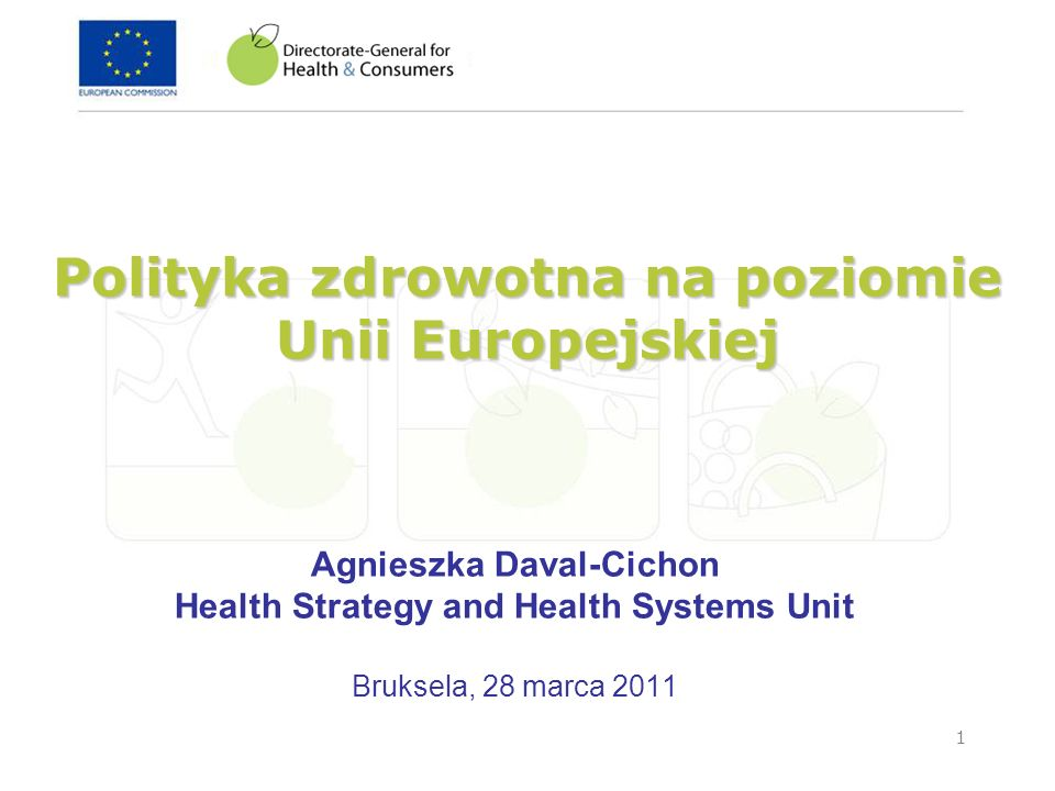 Polityka zdrowotna na poziomie Unii Europejskiej