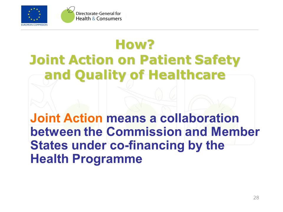 How Joint Action on Patient Safety and Quality of Healthcare